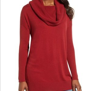 NWT Caslon Side Slit Convertible Cowl Neck Tunic